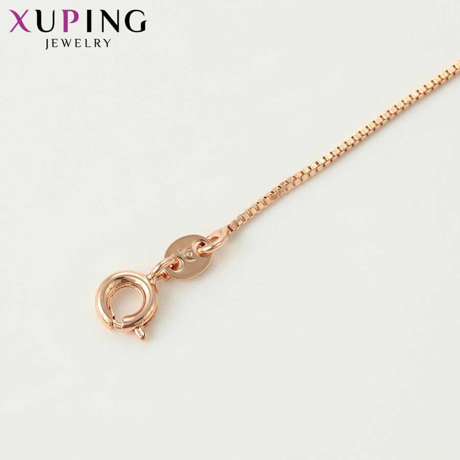 Xuping 小型でシンプルなチェーンネックレス高品質シングルタイプ女性のためのクリスマスファッションジュエリー S121 、 4-42615