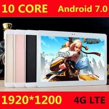 Бесплатная доставка 10 дюймов планшетный ПК Дека 10 core MTK6797 3 г 4 г GPS Android 7.0 4 ГБ 64 ГБ двойной Камера 8.0MP 1920*1200 IPS Экран