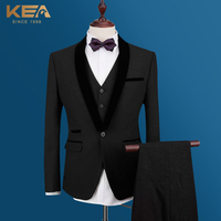 KEA Brand Fashion Men S Business Casual Suit Slim Fit Grooms Wedding Suit 3 Piece Suit