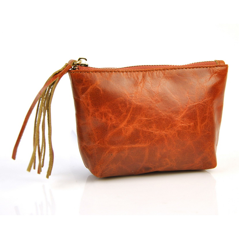 Women Genuine Leather Mini Coin Purse Female Small Coin Bags Tassel Wallet Creative Designer Cowhide Storage Fringe Bag