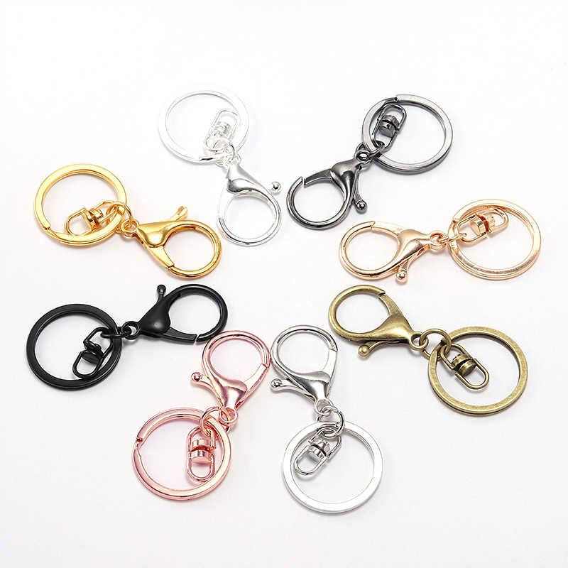 1PC 30mm wieszak na klucze klucz pierścień popularne karabińczyk klasyczne popularne długi 70mm brelok do kluczy kobiet brelok etui wisiorek – biżuteria