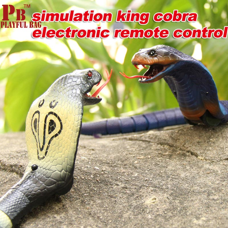 pb playful bag 2018 New High simulation cobra creative king electronic remote control creation of the