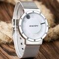 Paidu reloj giratorio de acero inoxidable de malla de hierro simple reloj de los hombres deportes reloj de pulsera envío gratis