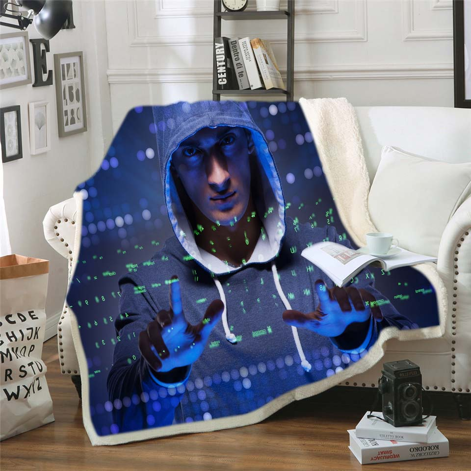 1pcs Fashion Nap Warm Blanket 3D Print Star Wars Fleece Sherpa Blanket for Teens Boys Sofa Cover Kids Winter Bedding 150x200cm