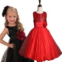 Принцесса день рождения девушки дети летнее платье для свадьбы вечерние 2016 новый comming суперзвезда цветок девочки платья