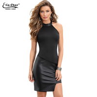 Women Lace Sexy Bodycon V Neck Long Sleeve Dresses Black Party Evening Elegant Autumn Winter Vintage