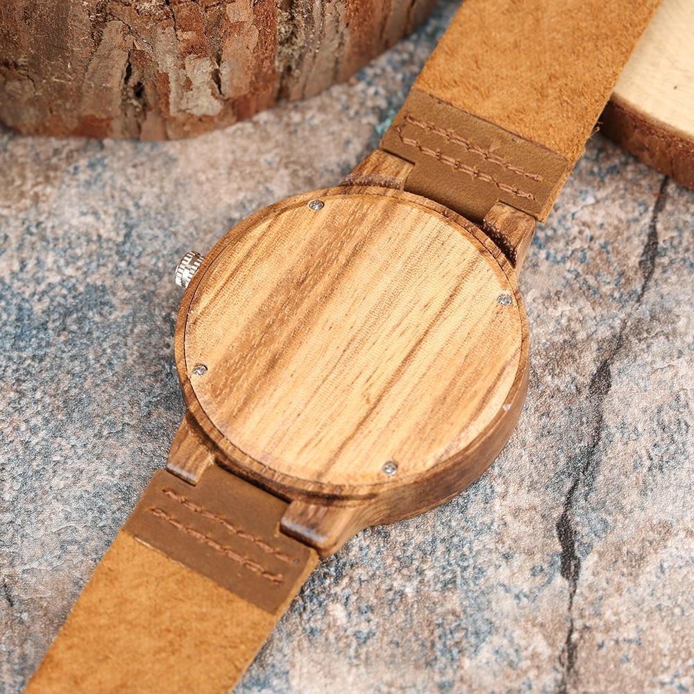 Erkek Saatler Top Marka Lüks Analog Doğal Bambu Ahşap Kuvars Kol - Erkek Saatleri - Fotoğraf 5