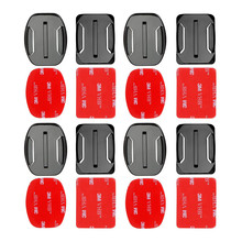 4pcs Flat and Curved Base Mount 3M VHB Stickers For GoPro Hero 5 3 4 Session