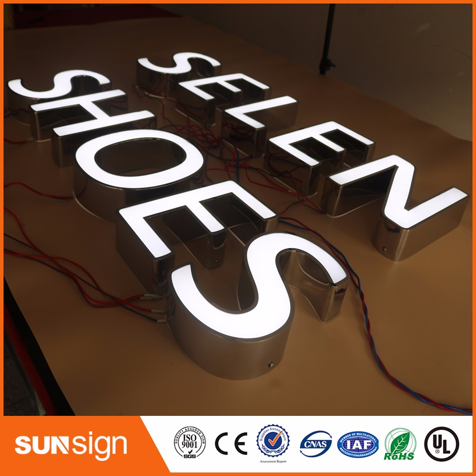 Aliexpress Custom Outdoor Advertising Front Lit Acrylic Sign Letter