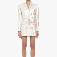 AEL, костюм с блестками, офисный Женский блейзер, Женское пальто, высокое качество, вечерние пальто, модный костюм, платье, Осень-зима