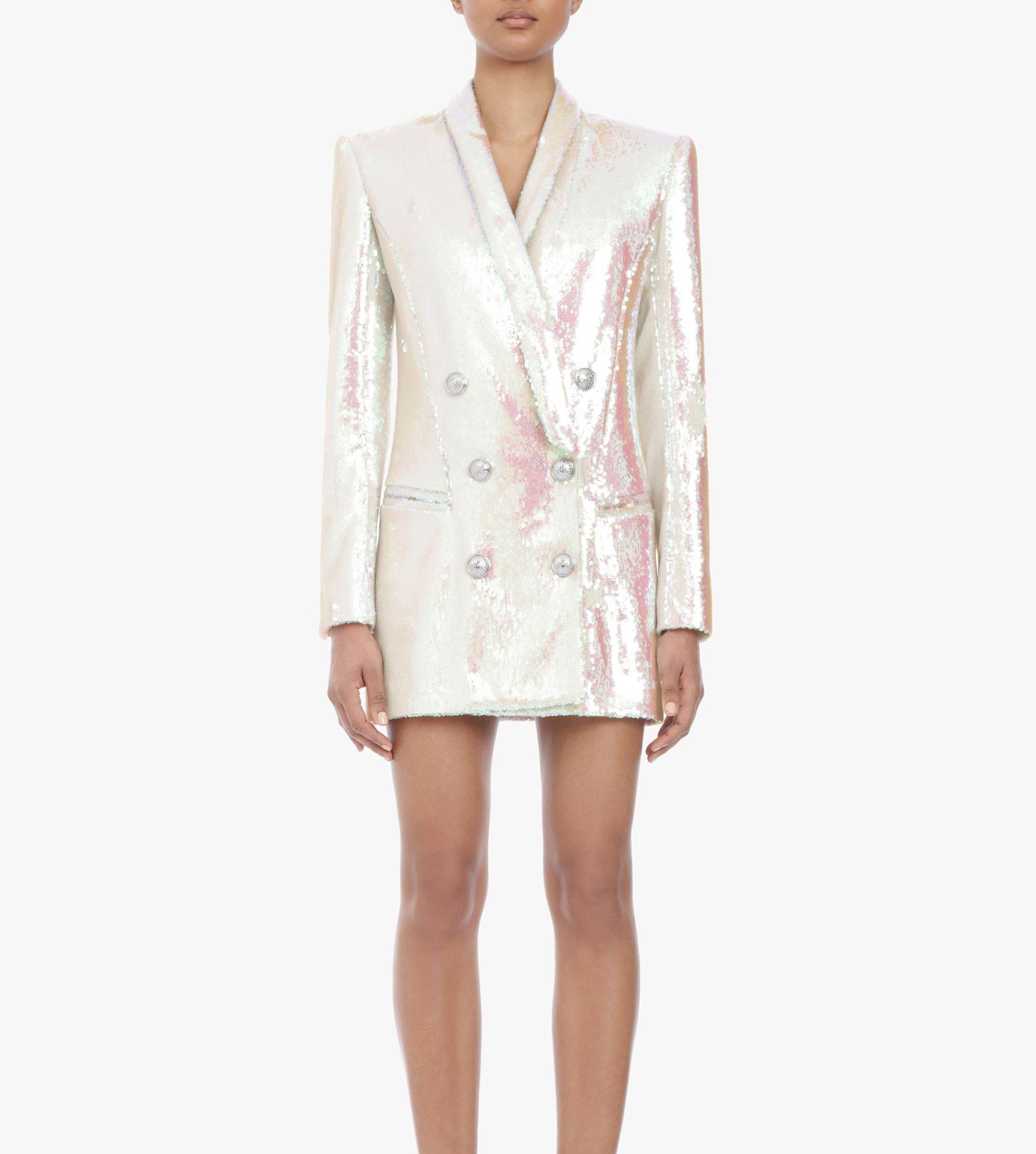 Printemps Lady Pour 2019 Qualité Ael Blanc Costume Pardessus Femmes Partie Blazer Fahion Manteau Supérieure Office Paillettes SxBFBqw6T