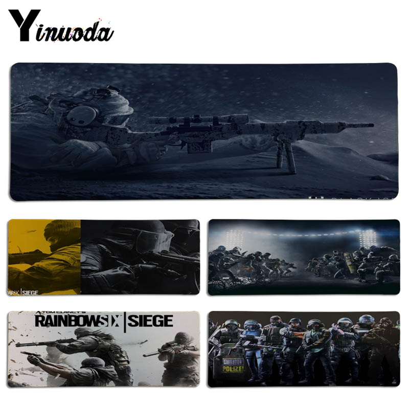 Yinuoda New Designs Game Rainbow Six Siege DIY Design Pattern Game Lockedge mousepad Size for 300*70cm and 300*90cm Mousepad