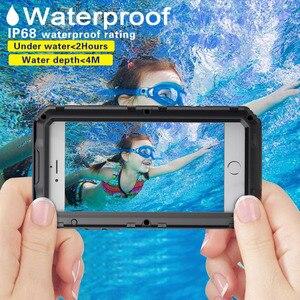 Image 2 - 3 strati Hybrid Impermeabile Antiurto Casse Del Telefono per il iPhone X 8 7 6 6S Plus 5 5S SE PC + TPU con la Cassa di Coperture Del Telefono di Vetro