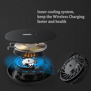 Image 2 - 15 ワット高速ワイヤレス充電器、 nillkin チー高速ワイヤレス充電パッド繊維 iphone XS 最大/XS/8/8 プラスサムスン s9/注 8/S8/S8 +