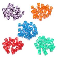 25 Pcs/Set New Party Game Dice 12 Square Transparent Dices Colorful Club Play Gifts For Dungeon D & Desktop Table Games
