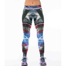 Nuevo 22 Estilos 3D Capitán América Impresión Legging Polainas de Las Mujeres de Fitness Sexy Nuevo Tramo de Baile de Entrenamiento ropa deportiva mujer
