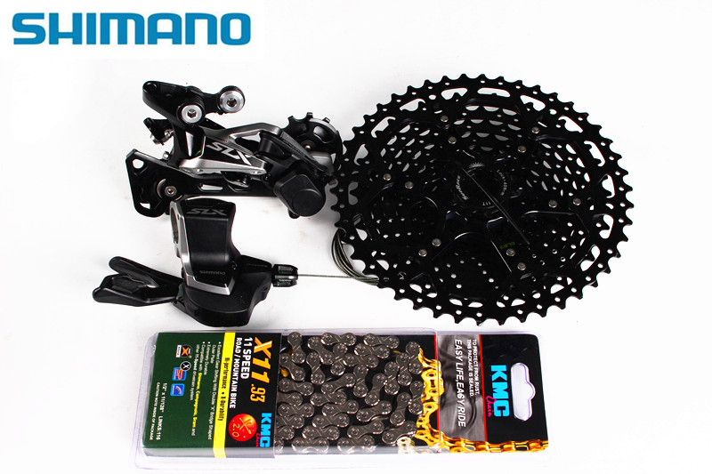 Shimano SLX M7000 Kit I-Spec II Sunrace Black 11//42T Cassette 11speed New