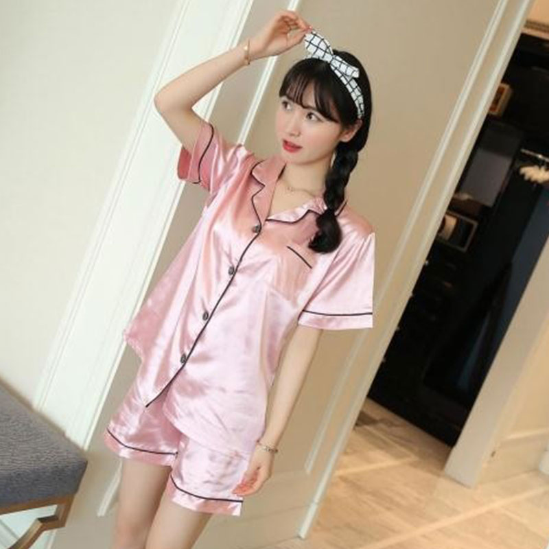 Summer   Pajama   Short Sleeve Sleepwear   Pajamas     Set   For Women Sexy Sleepwear Night Wear   Set