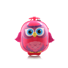 NEW 2016  Hardside Trolley Rolling Luggage Suitcase 1 Pieces 14″ Luggage 1 color cute children  Luggage night owl a bird of Mine