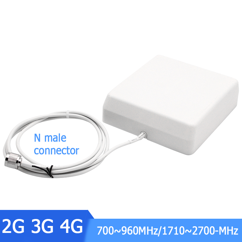 700-2700MHz Indoor Panel Antenna N Male 9dBi Internal Antenna For 2G 3G 4G Cell Mobile Phone Signal Booster Repeater Amplifier -