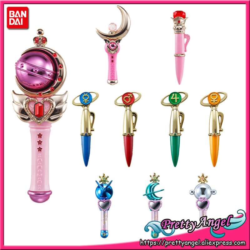 PrettyAngel   Genuine Bandai Sailor Moon 25th Anniversary Miniaturely Tablet Stick (No Candy) Mars Jupiter Venus Pluto Uranussailor neptunesailor moonsailor moon bandai -