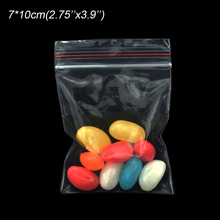 500pcs/lot 7x10m Transparent Zip Lock Plastic Food Bag Grocery Accessories Storage Thin Poly Bags Flat Self Seal