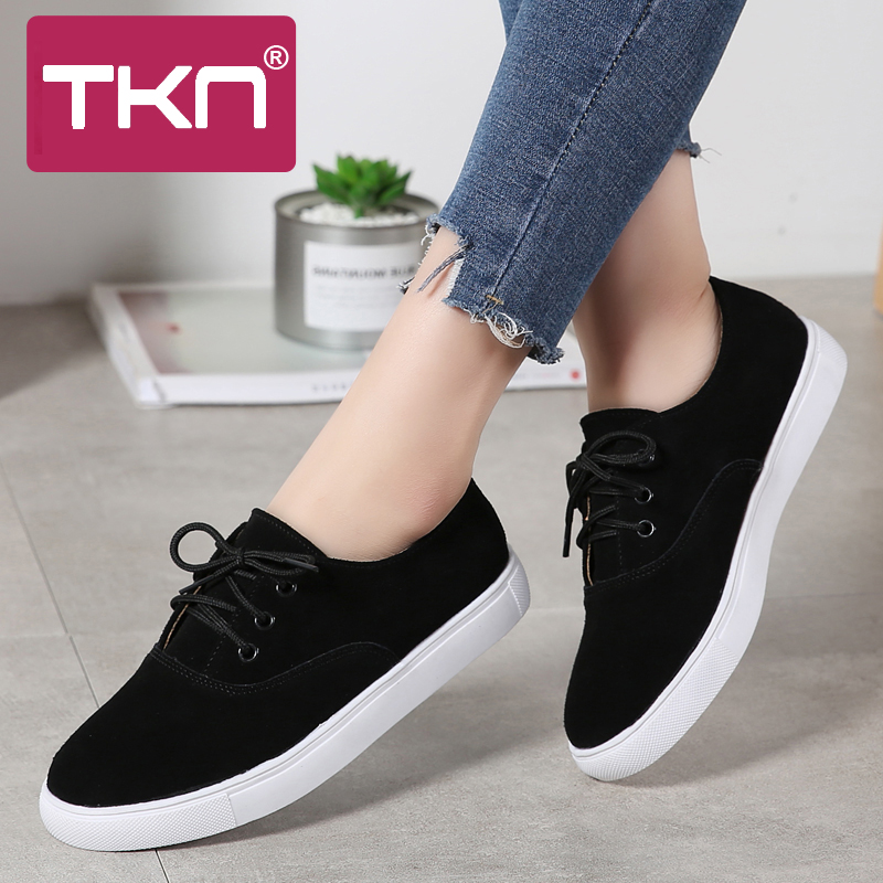 2019 Spring women flats platform oxford shoes   leather     suede   sneakers lace up chaussure femme round toe flats moccasins 1376-2