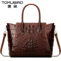 Tomubird Luxury Women Top Handle Bags Imported Cowhide Female Bag Vintage Crocodile Grain Bolsos Mujer De