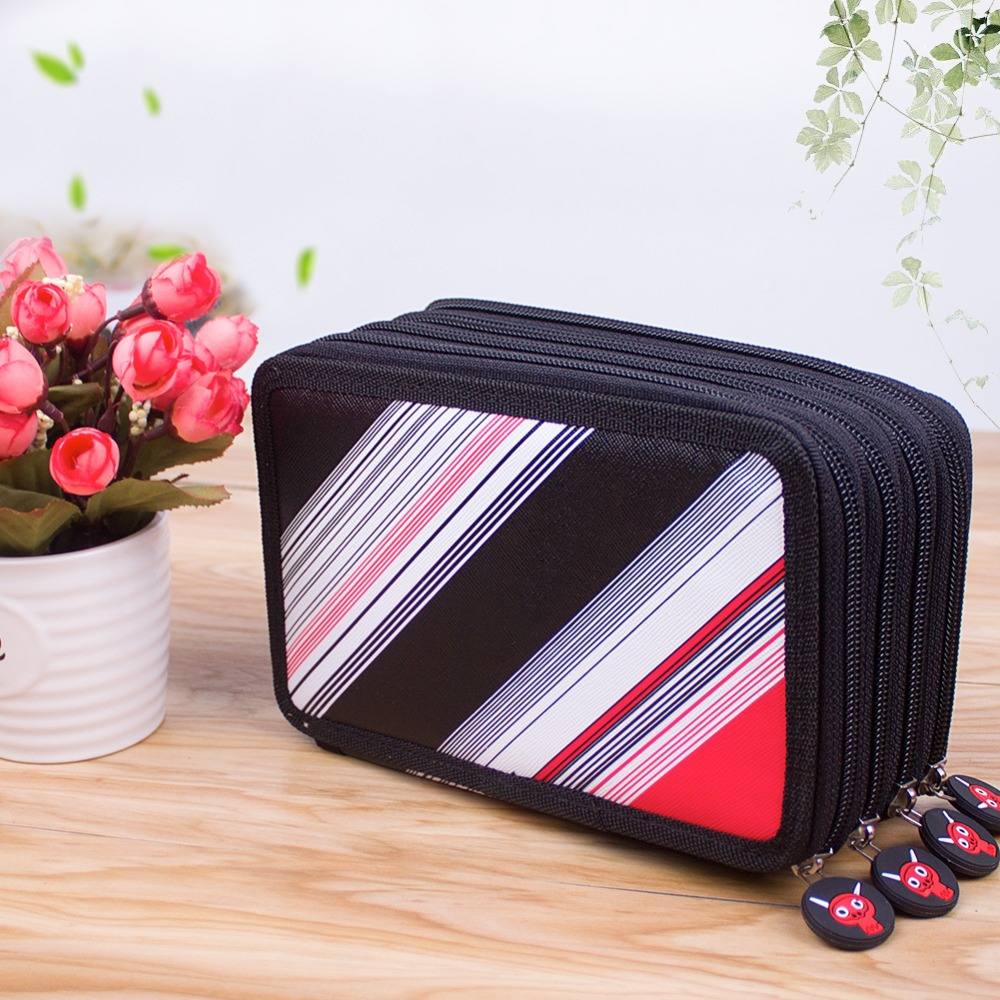 72 Slots Multi-functional Large Capacity Pens Case Pencil Pouch Wrap Coloring Pencil Holder Organizers Stationary Bag