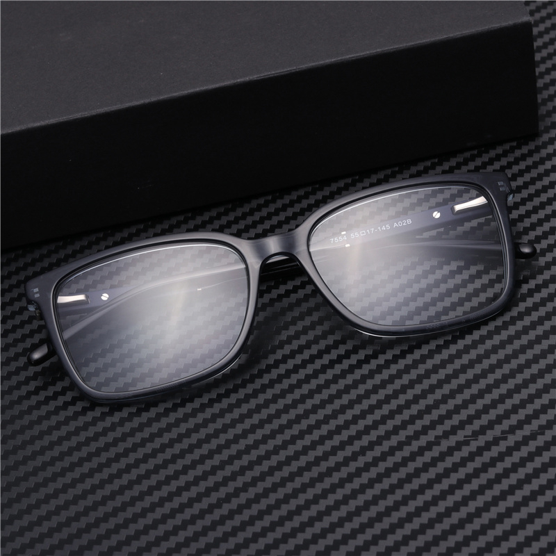 Men Square Acetate Optical Glasses Frame Clear  Blue Reading Computer Grade Eyewear#GP7554