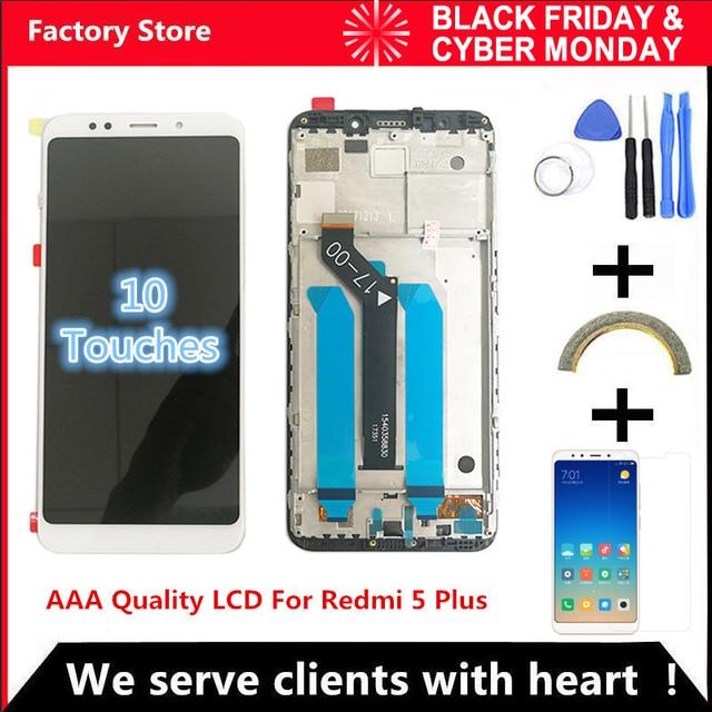 10-اللمس AAA جودة LCD + الإطار ل Xiaomi Redmi 5 زائد شاشة الكريستال السائل غيار للشاشة ل Redmi 5 زائد LCD شاشة أنف العجل 625