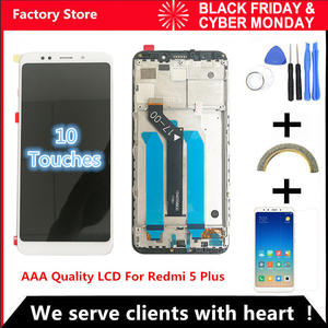 10-Touch AAA LCD + Frame For Xiaomi Redmi 5 Plus LCD Display Screen Replacement