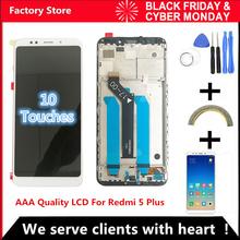 10-dotykowy AAA jakości wyświetlacz LCD + rama dla Xiaomi Redmi 5 Plus zamiennik ekranu wyświetlacza LCD dla Redmi 5 Plus ekran LCD snapdragon 625 tanie tanio QYINTLCRACYGYP Pojemnościowy ekran Nowy LCD For Xiaomi Redmi 5 Plus LCD i ekran dotykowy Digitizer 2160*1080 3 AAA Quality LCD For Xiaomi Redmi 5 Plus Lcd Display