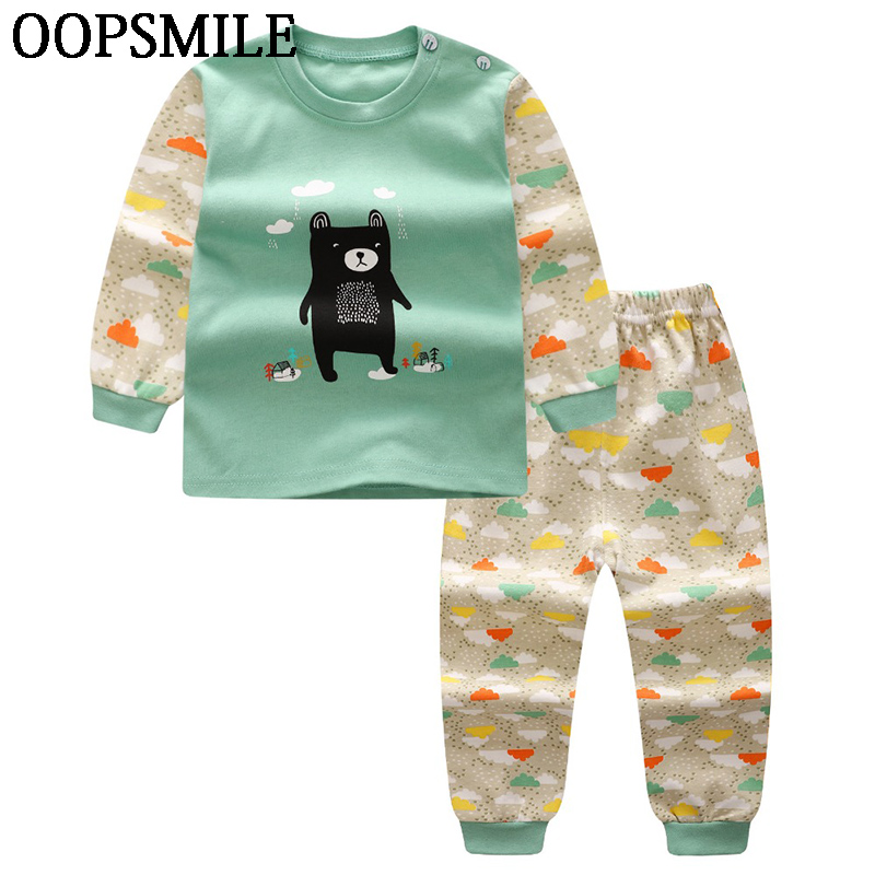 Winter Baby Clothing Sets For Girls Boys Cotton Long Sleeve Ropa Bebes Suit Children Baby Girl Boy Clothes Underwear Pajamas