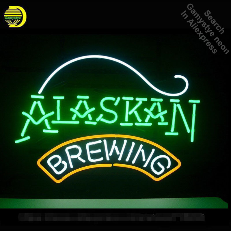 Neon Sign for Alaska Brewing Neon Bulbs sign handcraft Real Glass tubes Decorate windows lights personalized electronic signsNeon Sign for Alaska Brewing Neon Bulbs sign handcraft Real Glass tubes Decorate windows lights personalized electronic signs