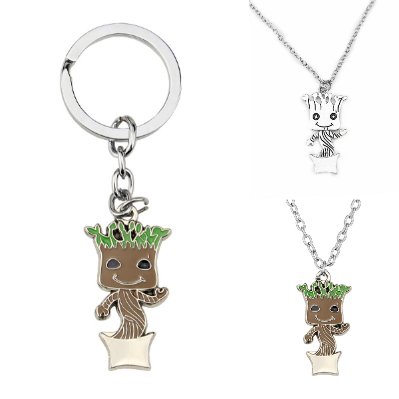 Guardians of the Galaxy Baby Pendant Necklace Silver Plated Movie Jewelry