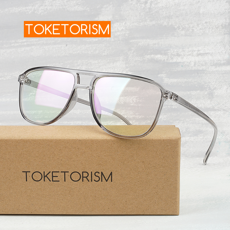Toketorism Eye Glasses Frames For Men Female Grade Glasses Frame Vintage Eyewear For Myopia 2342