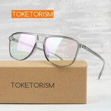 Toketorism eye glasses frames for men female grade glasses frame vintage eyewear for myopia 2342