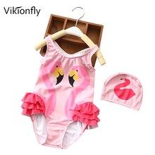 Swimwear Girls Unicorn Bathing-Suit Beach-Pool Ruffle Vikionfly Children's Animal