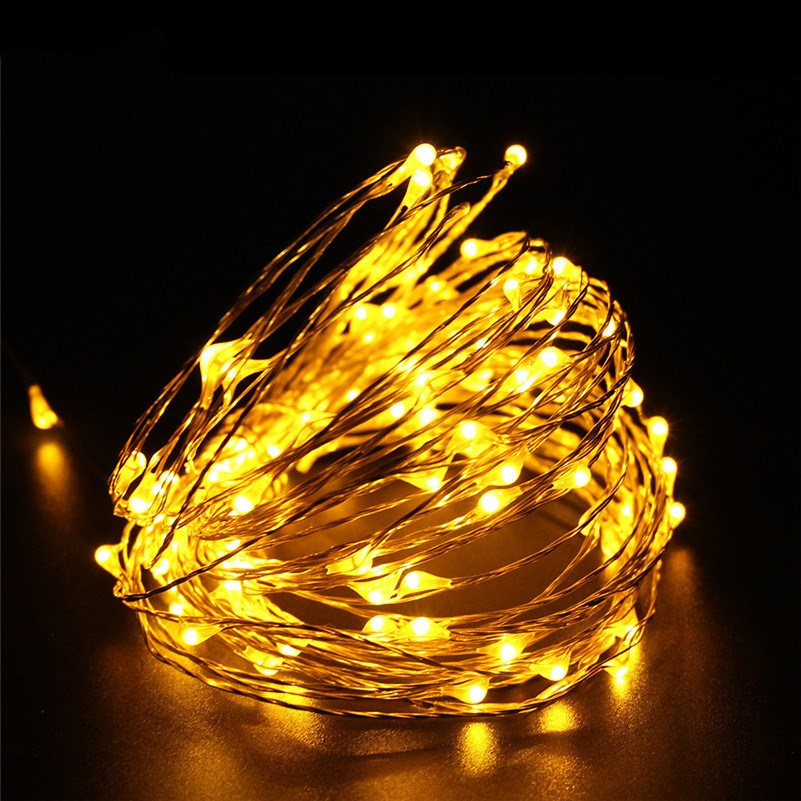 Waterproof LED Fairy String Lights DC12V 6M 10M opper Wire romantic Lamps for outdoor Christmas Holiday Wedding Party