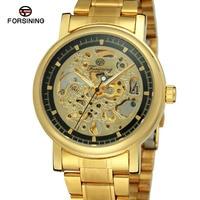 Forsining Men S Watch Bulk Buy Mechanical Hand Wind Stainless Steel Band Skeleton Brand New Wristwatch