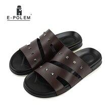 2017 Designer Casual Men Sandals Slippers Summer Fashion Men Outdoor Casual Beach Shoes Flip Flops Punk Rivets Slippers Black