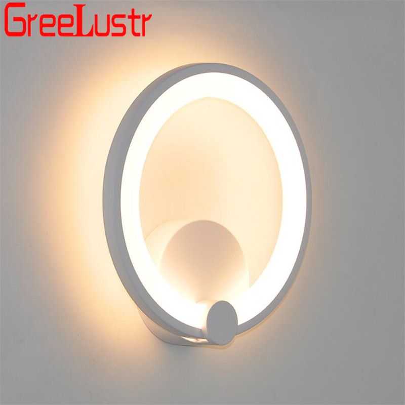 12 w conduziu a lampada de parede interior arandelas aluminio moderno luz da parede branco anel