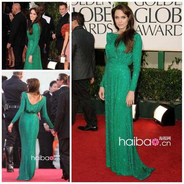 Celebrity Dresses Free shipping Wholesale Oscar Star Angelina Jolie ...