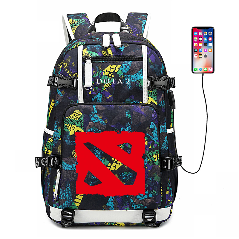 Defense Of The Ancients DOTA 2 Game Bagpack Large Capacity Travel Backpack USB Charging Laptop Backpack School Bags Daypack