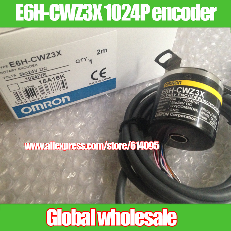 1pcs E6H CWZ3X 1024P R incremental rotary encoder for OMRON 1024 line encoder differential output hollow