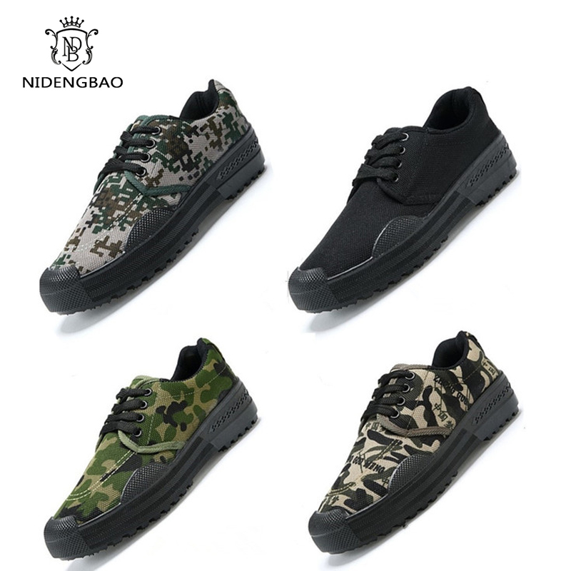 Camouflage Men Casual Shoes Fires Black