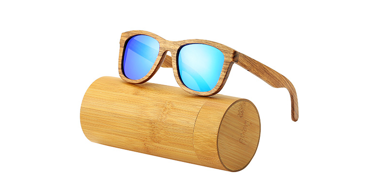 AN SWALLOW New 100% Real Zebra Wood Sunglasses Polarized Handmade Bamboo Mens Sunglass Sun glasses Men Gafas Oculos De Sol Mader 11