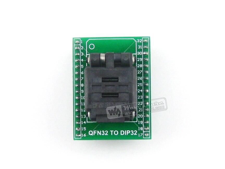 QFN32 à DIP32 adaptateur de programmeur Plastronics IC prise de Test et adaptateur de programmation pour QFN32 MLF32 MLP32 paquet 0.5mm pas