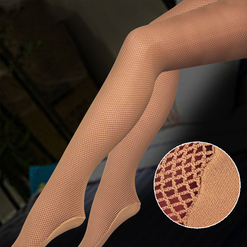 Women Sexy Latin Dance Tights Mesh Pantyhose Latin Dancing Fishnet Stockings Black Brown Skin Colors Dancer Professional Hosiery